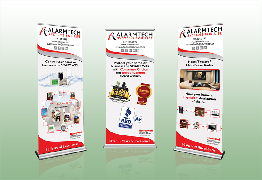 Pull-up Banners designed by Cheryl Redick